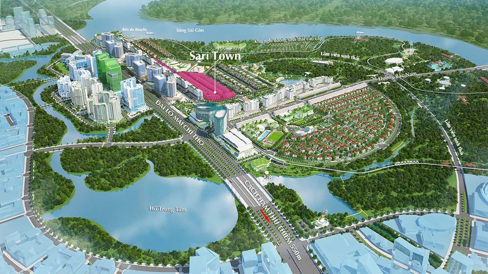 Khu nhà phố Saritown trong lòng khu đô thị Sala, Thủ Thiêm, Quận 2