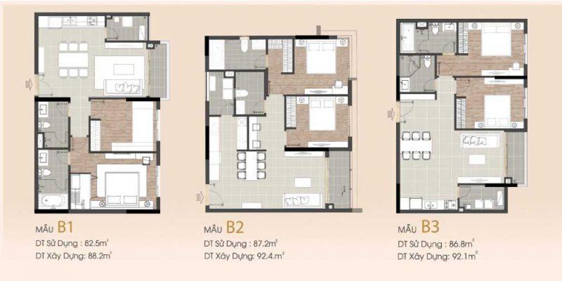 căn hộ 2 phòng ngủ sarimi